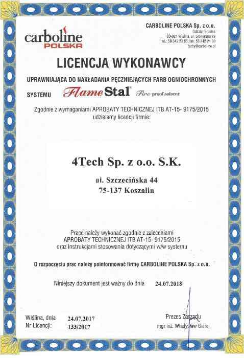 Certyfikat malowania
