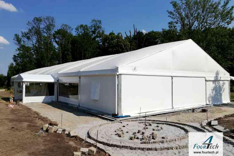biała hala namiotowa