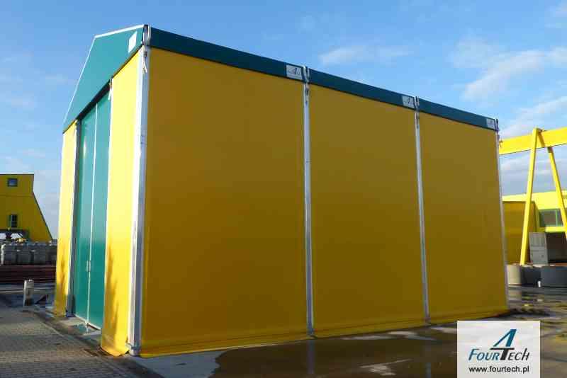 hala namiotowa żółto zielona