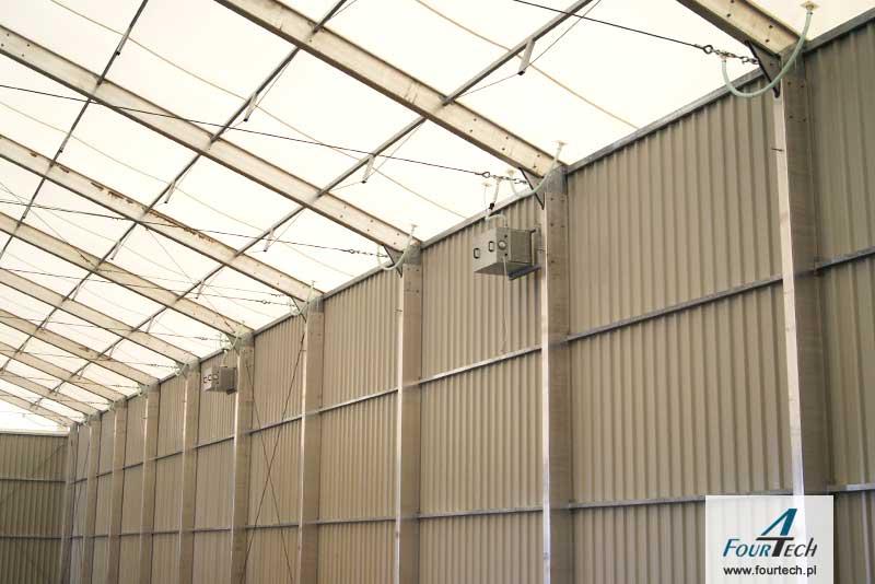 hala namiotowa zbliżenie na konstrukcje