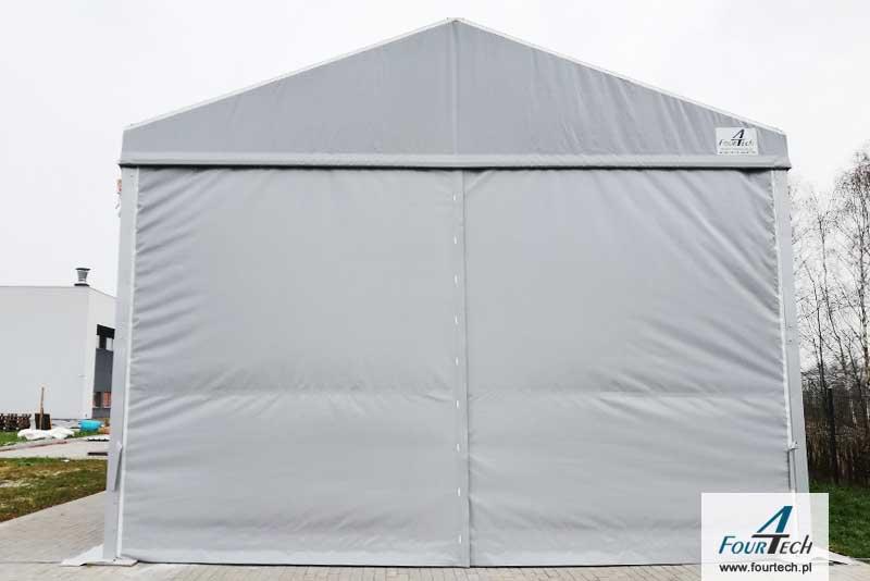 hala namiotowa - garażowa szara