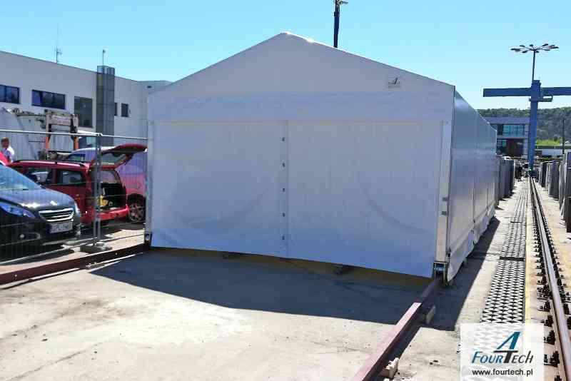 hala namiotowa biała