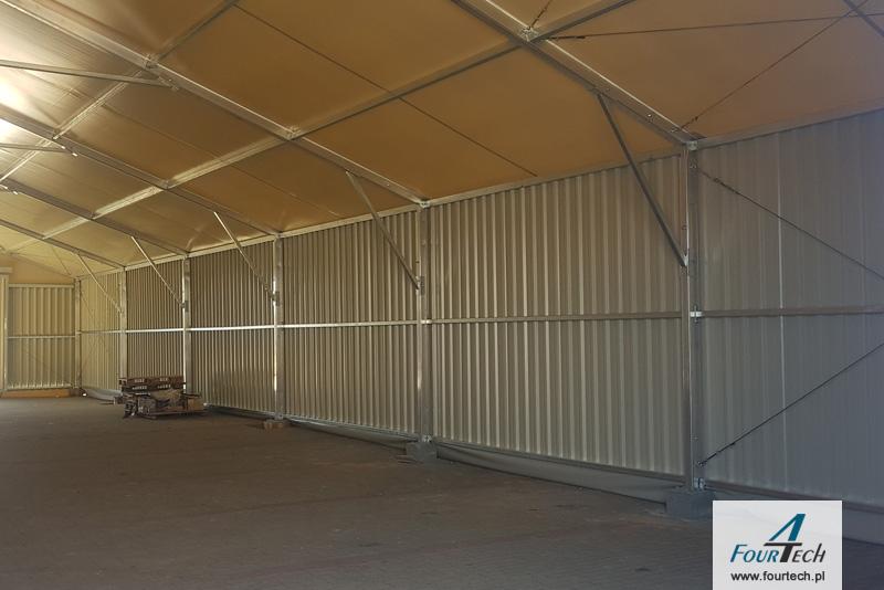 hala namiotowa wnętrze