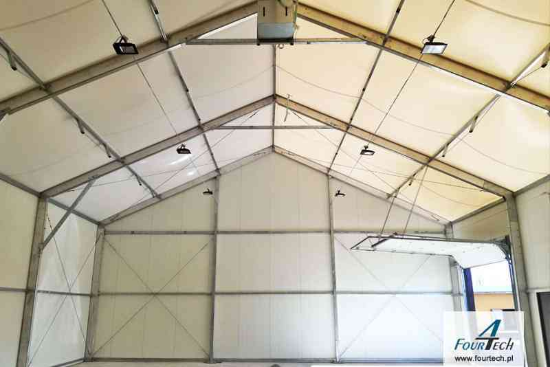 Hale namiotowa wenętrze