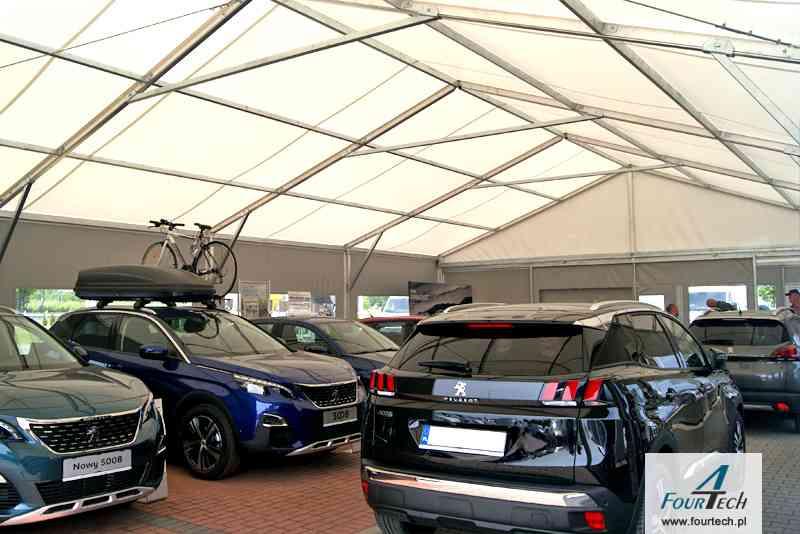 hala namiotowa dla aut