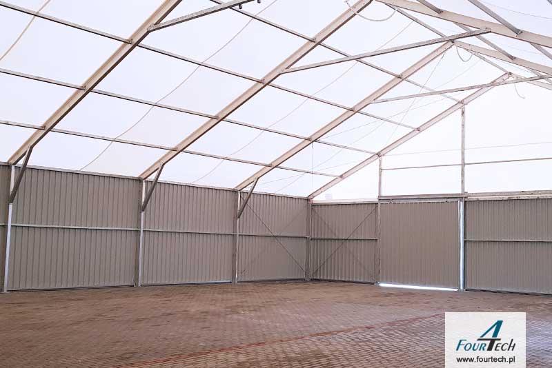 hala namiotowa dach wewnątrz