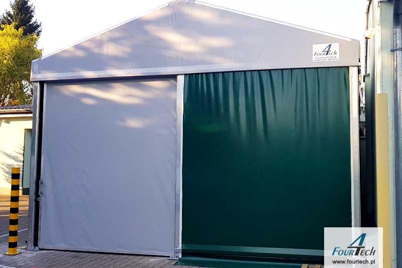 hala namiotowa biało-zielona front