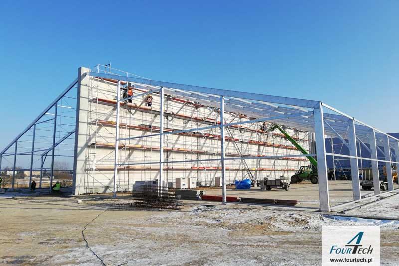 hala namiotowa - konstrukcja stalowa
