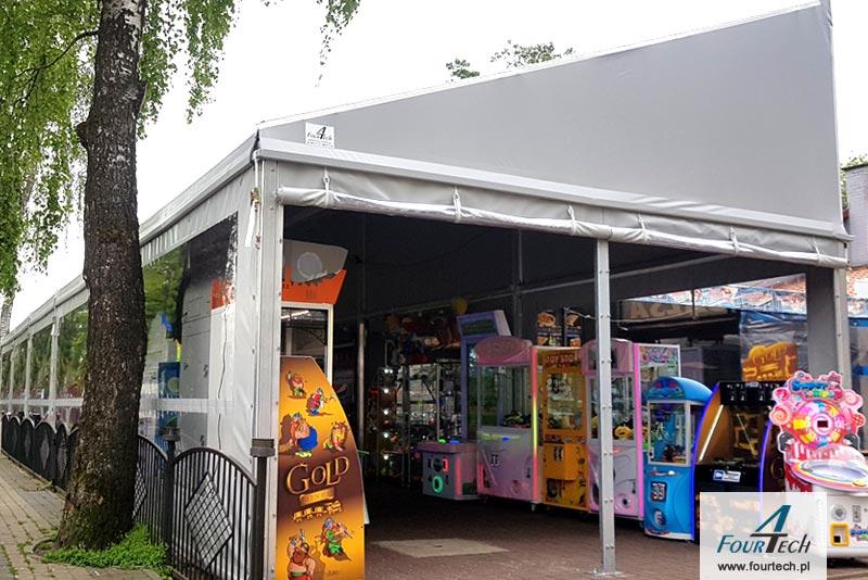 hala namiotowa - salon gier