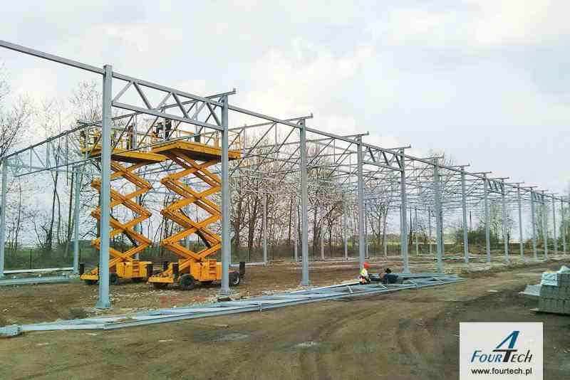 Konstrukcja stalowa pod wiatę